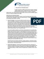 2013 Colorado Succeeds Policy & Research Fellowship Description