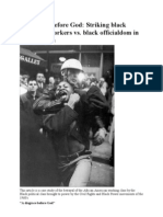 A Disgrace Before God Striking Black Sanitation Workers Vs
