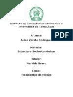 Presidentes de Mexico - Tarea Aidee