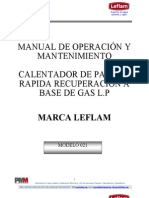 Manual Calentador de Paso a Gas 110-021