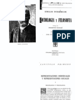 Sociología y Filosofía  Durkheim