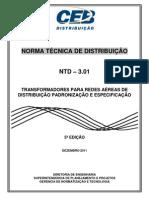 Ntd 3.01 - Transformadores Para Redes Areas de Distribuio