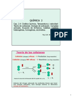 Clase Cap 2.4 Cinetica Q - Teoria de Colisiones, Arrhenius y Catalisis