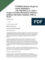 Carlini-Cotrim, Beatriz -  Drogas na escola.. prevenção, tolerância e pluralidade