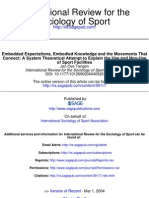 Embedded Expectations, Embodied Sports