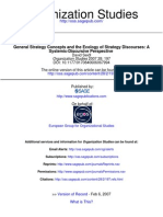 General Strategy Concepts and the Ecology of Strategie Discourses