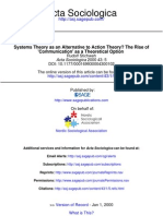 Systems Theory as an Alternative to Action Theory