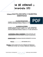 Feria de Ciencias 2012 Dactiloscopia y Nuesta Identidad