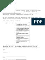Modelo carta de intención Dagraf