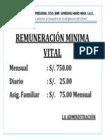REMUNERACIÓN MINIMA VITAL