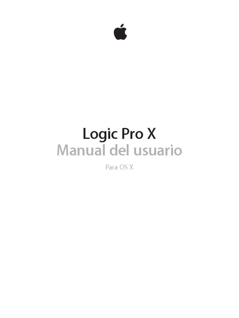 Logic Pro x Manual Del Usuario