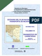 Estudio Del Plan Nacional de Transporte en Nicaragua - Diagnostico de Carreteras (Vol.7)