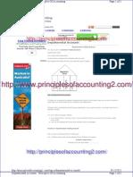 Departmental Accounts - Principles of Accounting