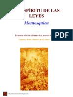 El Espiritu de Las Leyes - Montesquieu