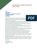 Procedimiento para elaborar un modelo de gestión de la seguridad y salud en el trabajo