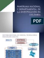 Panorama nacional y departamental de la investigación en