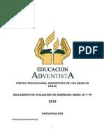 Reglamento de Evaluacion 2013