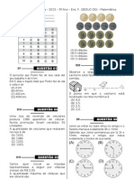 1ª P.D - 2013 (Mat. 5ºano)