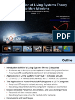 2013 The Application of Living Systems Theory to Mars Missions