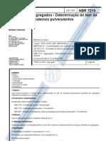 NBR  07.219 - 1987 - Agregados - Determinação do Teor de Materiais Pulverulentos