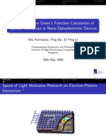 Non-equilibrium Green's Function Calculation of Optical Absorption in Nano Optoelectronic Devices