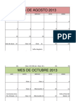 Calendario 5to. Semestre