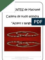 E-book Pendientes Macrame Acero y Sangre