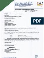 Surat Mesyuarat Penyelarasan Premier Zon Tengah 2013