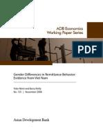Gender Differences in Remittance Behavior