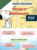MTE - Nature of Mathematics