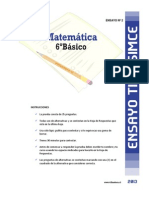 Ensayo2 Simce Matematica 6basico 2013