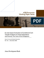 Ex-ante Impact Evaluation of Conditional Cash Transfer Program on School Attendance and Poverty