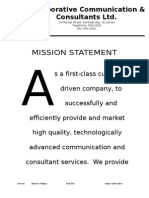 #1 - Mission Statement