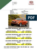 Cco Cotizacion Kia New Sportage 2012