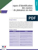 13a DGITM Marques Identification Navires de Plaisance en Mer 2p 22-11-2012 Def Web