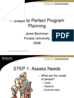 7 Steps to Perfect Program Planning LONG