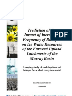 Prediction of the impact of increasing frequency of bushfire on the water resources of the forested upland catchments of the Murray basin