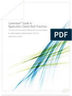 Application Control Best Practices