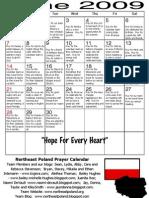 June 2009 TNEP Prayer Calendar