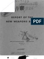 Report of the New Weapons Board.