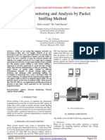 Network Monitoring and Analysis by Packet Sniffing Method
