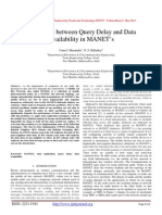 Trade-Offs between Query Delay and Data