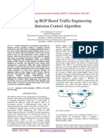 AMPLE Using BGP Based Traffic Engineering with Admission Control Algorithm