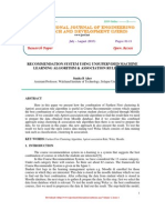 Recommendation System Using Unsupervised Machine Learning Algorithm & Assoc