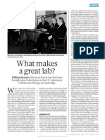 What Makes a Great Lab