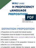 1. Preposition