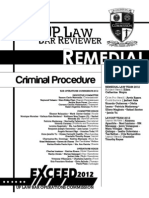 UP 2012 Remedial Law (Criminal Procedure)