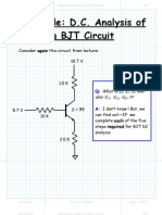 Example DC Analysis of a BJT Circuit