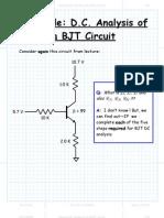 Example DC Analysis of a BJT Circuit