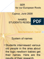 Names Cyprus SER
